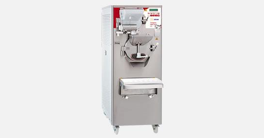 Fotografía de una máquina combinada para helados duros tipo gelato italiano