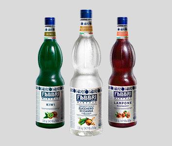 Foto de botellas de Jarabe para bebidas de fabricación Italiana