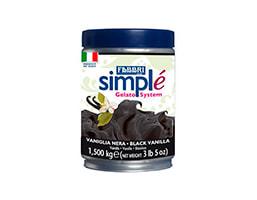 Envase de 1.5kg de Simple vainilla negra