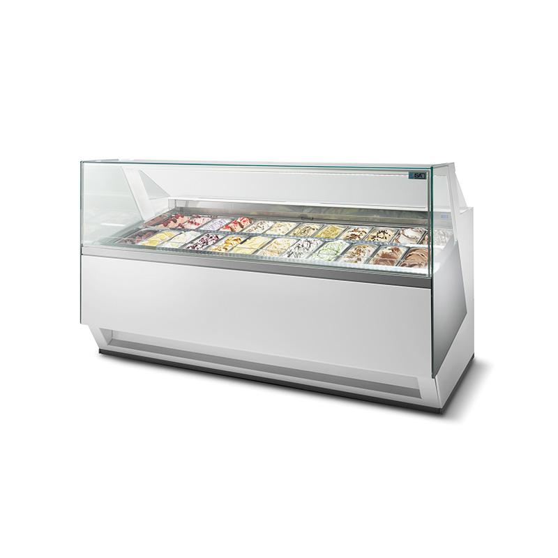 Fotografía de una Vitrina Refrigerada Diva almacenando helados