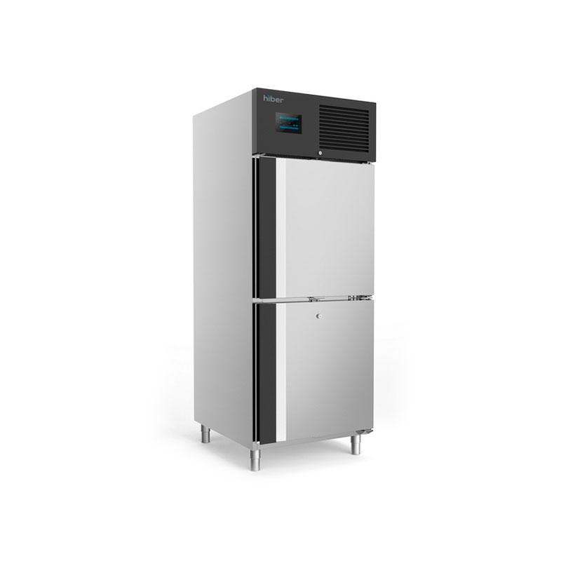 Congelador con bajo sistema de consumo de 2 medias puertas