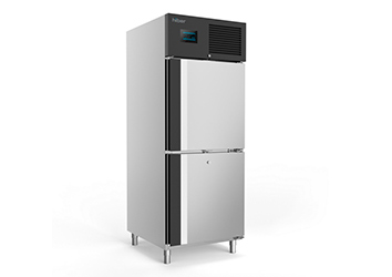 Foto de congelador vertical de 2 medias puertas
