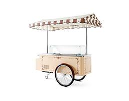 Foto de un carrito de helados clásico