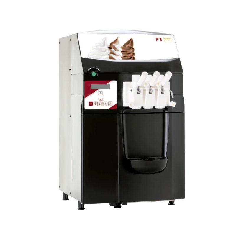 Foto de una máquina de bomba modelo ICETEAM P3 para la producción de helados suaves.