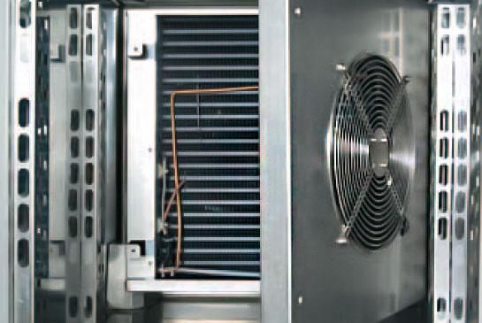 Interior nterior de un abatidor de temperatura