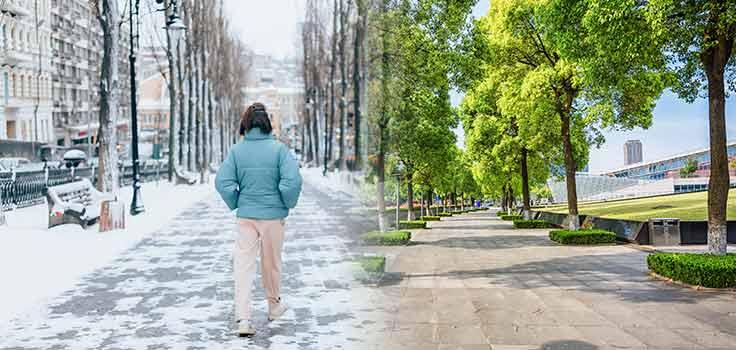 persona clima frio con chamarra