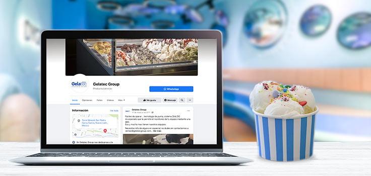 computadora con contenido en redes sociales