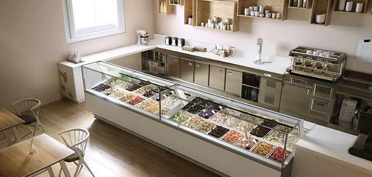 diseños vitrinas exhibidoras de helados