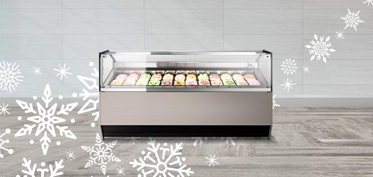 exhibidoras de helados con buena temperatura