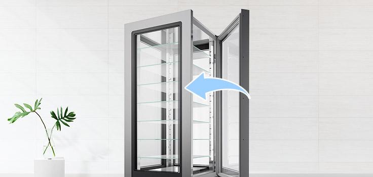 exhibidoras de helados con puertas automaticas