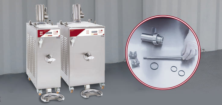 Dos pasteurizadoras para helado de diferente capacidad y de mecánica sencilla
