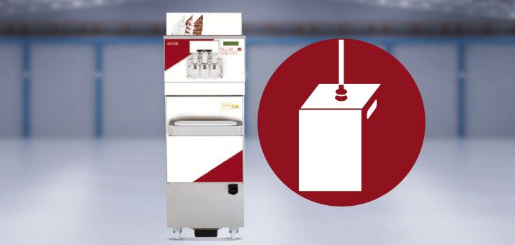 Máquina de helado suave modelo de pie