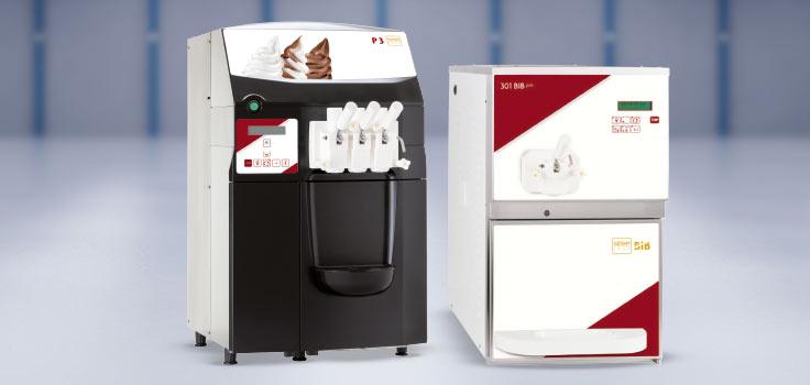 Máquinas de helados suaves modelos de bomba