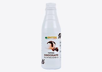 Fructital Cioccolato para postres y helados en botella de 1kg